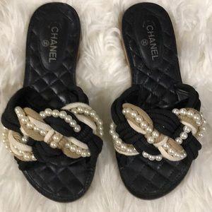 42abea3018e1 Women s Chanel Pearl Sandals on Poshmark